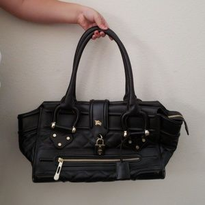 Burberry Quilted Leather Manor Bag